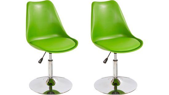 Danish Style Jídelní židle Seilor (SET 2 ks), zelená