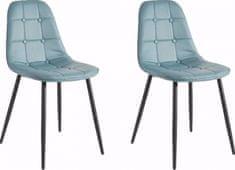 Danish Style Jedálenská stolička Toel (Súprava 2 ks), modrá