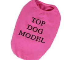 Kraftika Tričko Top Dog Model - Růžová Trička Oblečky Pro Malá Plemena