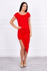 Kesi Asymetrické šaty, červená
