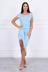 Kesi Asymetrické šaty, světle modrá