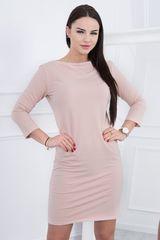Kesi Jednoduché šaty, světle béžová
