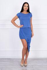 Kesi Asymetrické šaty, jeanově modrá