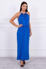 Kesi Boho šaty s rozparkem, modrá