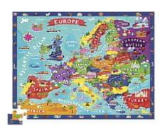 Crocodile Creek Puzzle Európa veľké 100ks