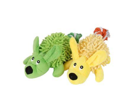 Kraftika Piskliwy zabawki pluszowe psy – przeciąganie zabawki piesek