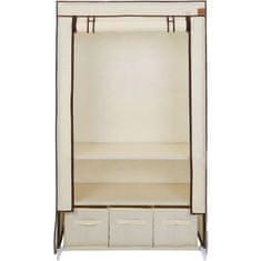 VonHaus garderobna omara, prenosna, s predali, bež (3008096)