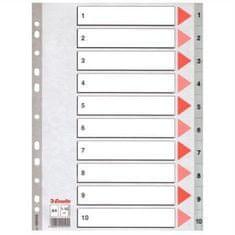 Esselte pregradni karton 1-10 A4 PP, siv (10)