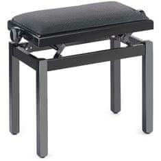 Stagg PB39 BKM VBK, stolička ke klavíru, černá matná