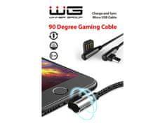 Winner Datový kabel 90 stupňů zahnutý s Micro USB/1m/black, 6919