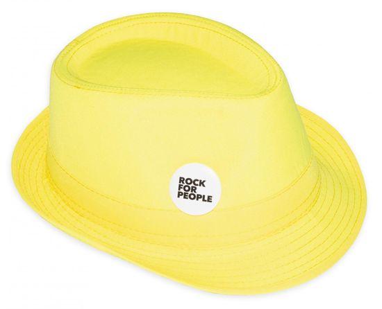 Rock for People unisex žlutý klobouk