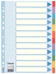 Esselte pregradni karton A4 12-delni, barvni krt (10)