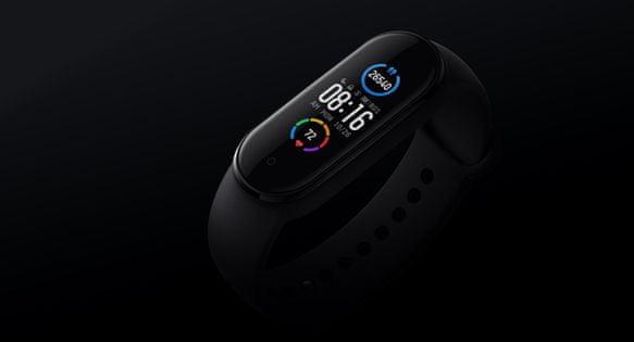 Fitness náramek Xiaomi Mi Band 5, velký barevný AMOLED displej, vodotěsný, multi sport, jóga, skákání přes švihadlo, rotoped, relaxační cvičení proti stresu