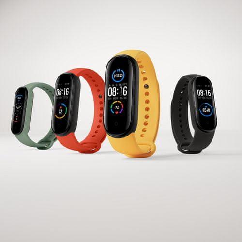 Fitness náramek Xiaomi Mi Band 5, dobrý poměr cena/výkon, barevný AMOLED displej, multisport, ovládání spouště fotoaparátu