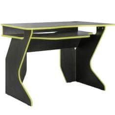 Računalniška miza Pariz 1, sivo-zelena