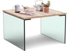 Danish Style Konferenčný stolík Anes, 60 cm, dub/sklo