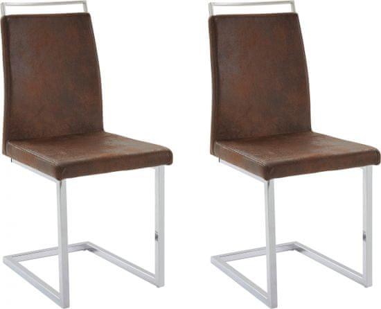 Danish Style Jedálenská stolička Jasmi (Súprava 2 ks), hnedá