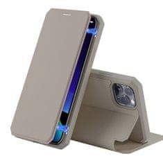Dux Ducis Skin X knížkové kožené pouzdro na iPhone 11 Pro, zlaté