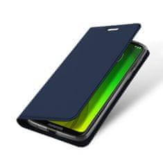 Dux Ducis Skin Pro knížkové kožené pouzdro na Motorola Moto G7 Power, modré