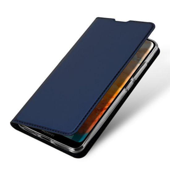 Dux Ducis Skin Pro knižkové kožené pouzdro na Huawei Y6 2019 / Honor 8A Pro, modré