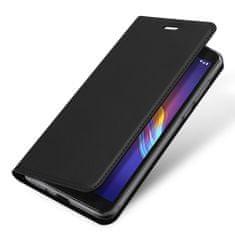 Dux Ducis Skin Pro knížkové kožené pouzdro na Motorola Moto E6 Play, černé
