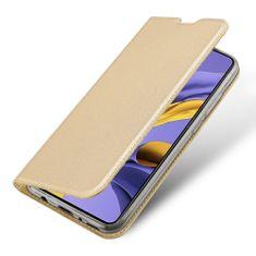 Dux Ducis Skin Pro knížkové kožené pouzdro na Samsung Galaxy A51, zlaté