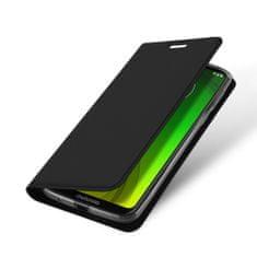 Dux Ducis Skin Pro knížkové kožené pouzdro na Motorola Moto G7 Power, černé