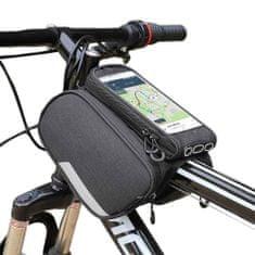 MG Bike Front Storage Frame cyklistická taška na bicykel 6.5'' 1.5L, čierna