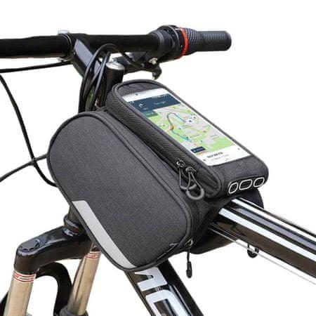 MG Bike Front Storage Frame biciklis táska 6.5'' 1.5L, fekete