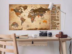 Murando DeLuxe Stírací mapa světa Vintage francouzská Rozměry (š x v) a Typ: 100x50 cm francouzská