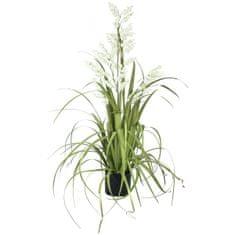 Europalms Bílé zvonky v trávě, 105 cm