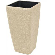 Europalms Kvetináč Stone-41, Kubický, veľký, béžový