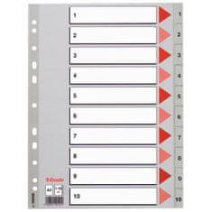Esselte pregradni karton 1-6 A4 PP, siv