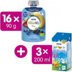 Nestlé NATURNES BIO kapsička Jablko Banán Borůvka Ostružina 16x90g