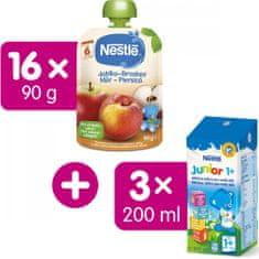 Nestlé kapsička Jablko Broskev 16x90g