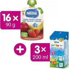 Nestlé kapsička Jahoda, Jablko, Banán 16x90 g