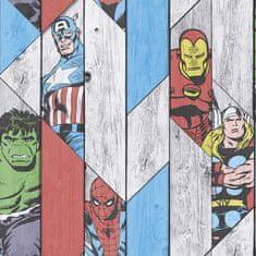 Graham & Brown Papírová komiksová tapeta 102435, Marvel Wood Panel, Kids@Home 6, Graham & Brown