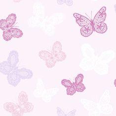 Graham & Brown Vliesová tapeta Motýlci 100114, Butterfy Pink, Kids@Home 6, Graham & Brown