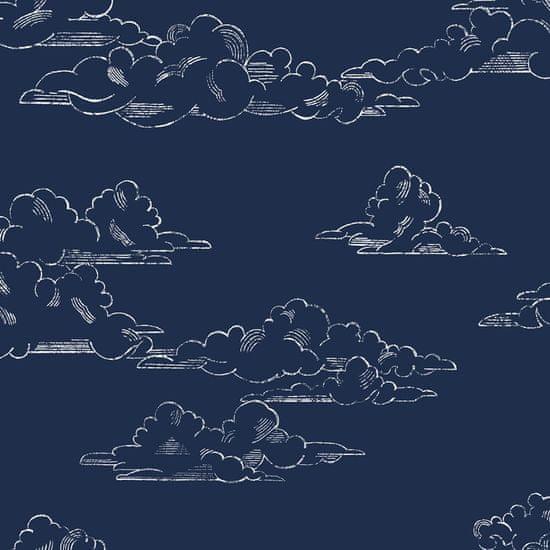 Graham & Brown Vliesová tapeta na zeď Mráčky, Oblaka 108554, Vintage Cloud Navy, Kids@Home 6, Graham & Brown