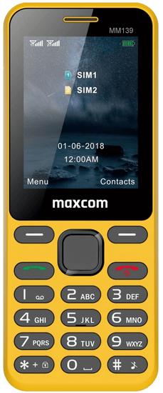 MaxCom MM139, žlutý