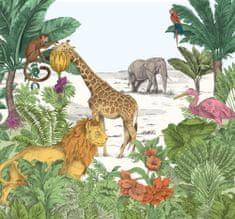 Graham & Brown Dětská vliesová obrazová tapeta Jungle Watercolour, 111397, 300 x 280 cm, Kids@Home 6, Graham & Brown