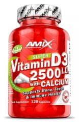 Amix Nutrition Vitamin D3 2500 I.U. s vápnikom 120kapsúl