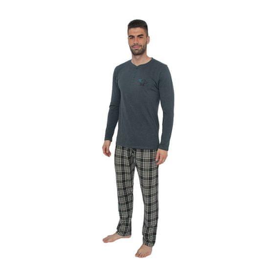 Gino Pánské pyžamo šedé (79071) - velikost L