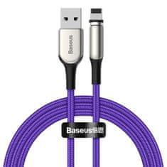 BASEUS Zinc mágneses kábel USB / Lightning 1.5A 2m, lila