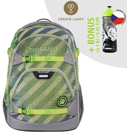 CoocaZoo Iskolatáska ScaleRale, MeshFlash Neongreen, AGR tanúsítvány