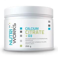 NutriWorks Calcium Citrate + D3 250g