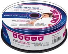 MediaRange CD-R AUDIO 700MB 12x spindl 25ks Inkjet Printable (MR224)