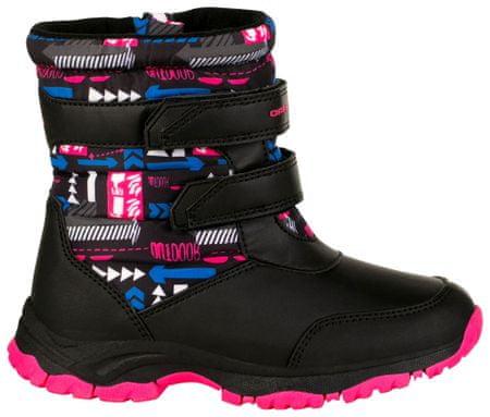 ALPINE PRO KBTS260452 Voloso zimske čizme za djevojčice, crno-roze, 24