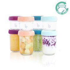 Babymoov szklane pojemniki z wieczkami MULTISET (4x 120 ml + 4x 240 ml)