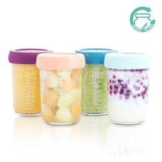Babymoov sklenené misky s viečkami 4x 240 ml